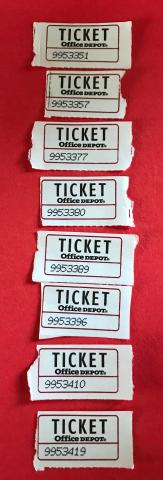 Winning ticket numbers:  9953351, 9953357, 9953377, 9953380, 9953389, 9953396, 9953410, and 9953419.